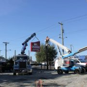 Construction of Great Canadian Oil Change in Victoria