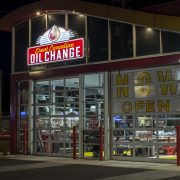 Great Canadian Oil Change on Douglas at night time