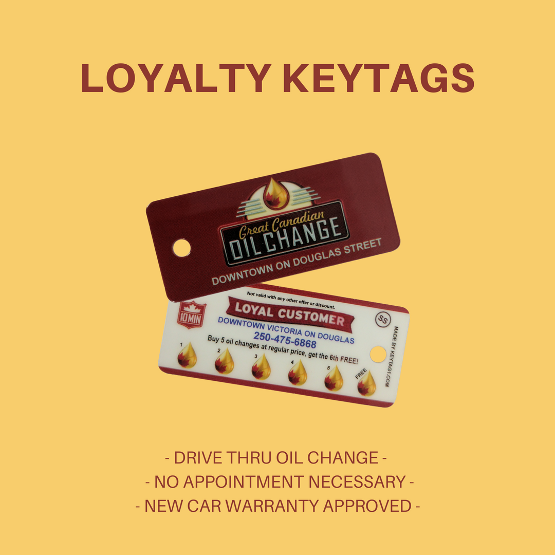 Oil change loyalty keychange