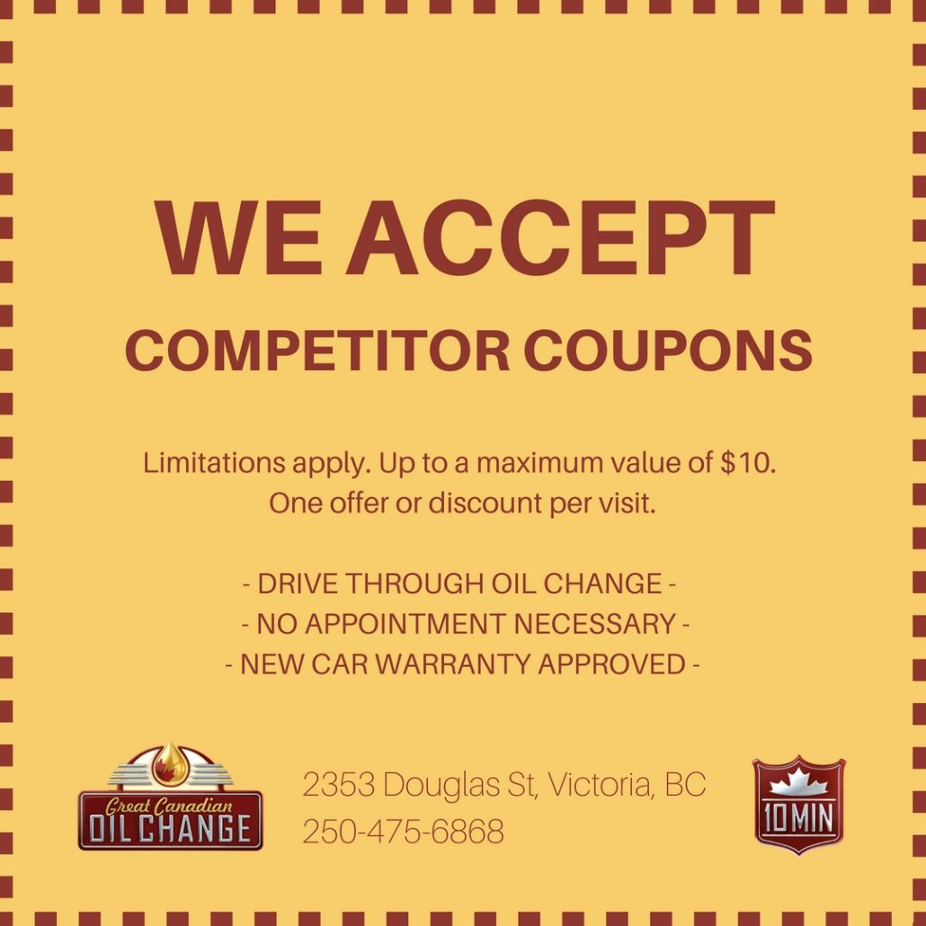 oil change coupon match