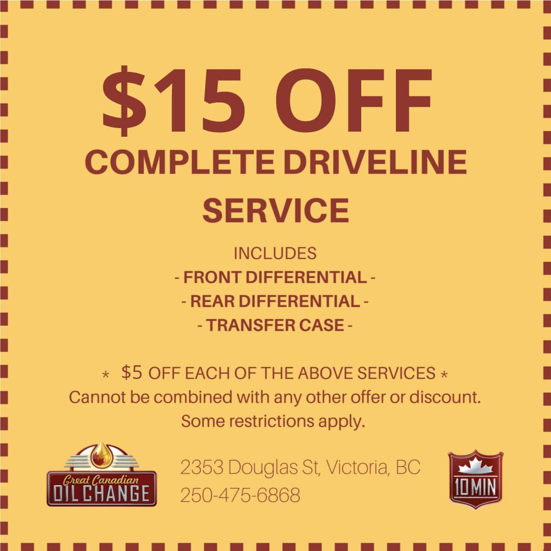 $15 off complete driveline service coupon