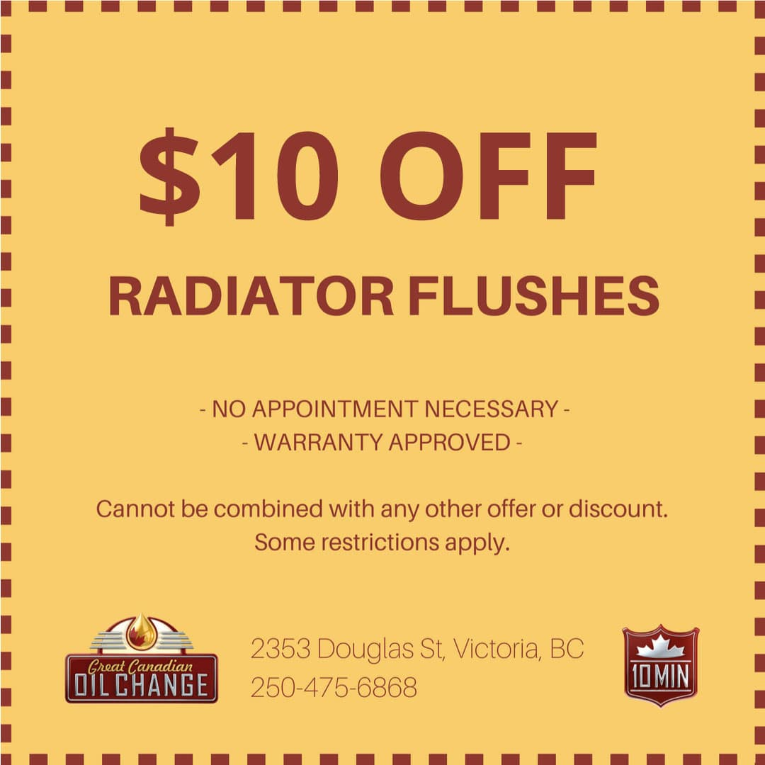 $10 off radiator flushes coupon in Victoria